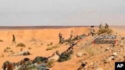 Des troupes pro-gouvernementales à Boukamal, le 8 novembre 2017.