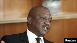 Hamed Bakayoko Ministre wa Yambo ya Côte d'Ivoire awei le 10 mars 2021.