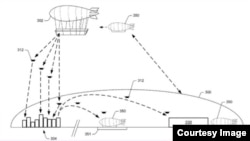 Amazon filed a patent for a flying fulfillment center. (USPTO)