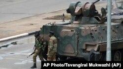 Zimbabwe Political Turmoil - Army Truck