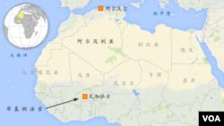 阿尔及利亚地理位置图