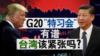 """海峡论谈:G20""""特习会""""有谱 台湾该紧张吗?"""