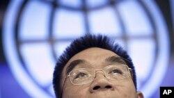 18일 세계경제전망 보고서를 발표한 저스틴 린 세계은행 수석 이코노미스트