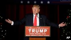 미국 공화당의 대통령 선거 경선 후보인 도널드 트럼프. (자료사진)