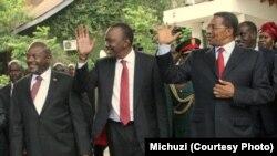 Viongozi wa Afrika Mashariki Kikwete, Kenyatta, Nkurunziza