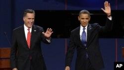 Tổng thống Obama và ứng cử viên của đảng Cộng hòa Mitt Romney