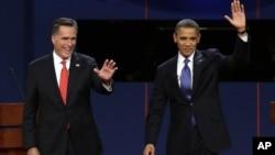 共和黨總統候選人羅姆尼和奧巴馬總統繼續進行競選活動