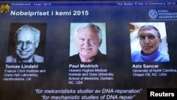 Kimya sahəsində Nobel mükafatı layreatları Tomas Lindahl, Pol Modriç və Əziz Sancar