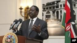 Kenyan Prime Minister Raila Odinga, June 12, 2012.