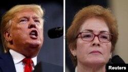 Presiden AS Donald Trump dan mantan Dubes AS Marie Yovanovitch