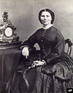 Clara Barton in 1865 in a photo taken by Mathew Brady