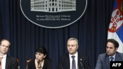 Konferencija za novinare zvaničnika vlade Srbije i MMF-a