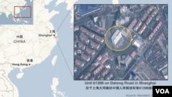 上海網絡攻擊總部所在地地圖
