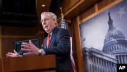 Mitch McConnell, kiongozi wa walio wengi katika baraza la seneti Marekani.