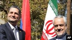 آرمینیا کے وزیر اعظم کی دو روزہ دورے پر ایران آمد