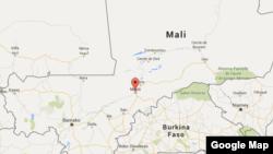 Une carte représentant le Mali, avec à son centre la région de Mopti.