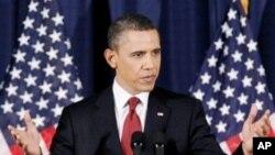미국의 리비아 개입에 관해 연설하는 오바마 대통령