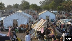 People fled violence in Juba in December and sought shelter inside U.N. staff compounds like this one in Juba, which rapidly became camps for the displaced.
