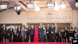 Le tapis rouge du 68e festival de Cannes, le 13 mai 2015.