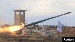 استفاده از موشک های گراد جدید توسط نیروهای ارتش آزاد سوریه