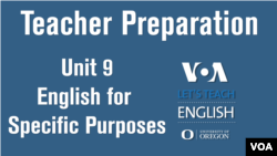 Let's Teach English Unit 9: English for Specific Purposes and Vocational Language
