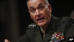 Jenderal Joseph F. Dunford Jr., komandan pasukan internasional yang dipimpin AS di Afghanistan.