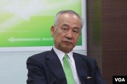 新台湾国策智库董事长吴荣义 (美国之音张佩芝拍摄)