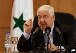 Bộ trưởng Ngoại giao Syria Walid al-Moallem