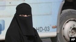 Une femme à Ryad en Arabie saoudite, le 12 décembre 2015