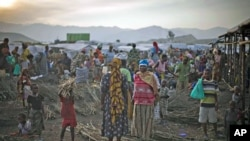 A view of the market at Bulengo camp for war-displaced people just outside Goma in eastern Congo. (file photo)