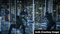 Saat Keanu Reeves bertarung dengan Yayan Ruhian dan Cecep Arif Rahman di film John Wick 3 (Dok: IMDB)