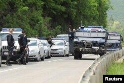 Pripadnici Kosovske policije u oblasti Zubinog Potoka, 28. maja 2019.