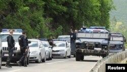 Pripadnici specijalnih snaga Kosovske policije u blizini Zubinog Potoka, na severozapadu Kosova, 28. maja 2019.