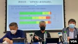 香港民意研究所公佈最新民意調查顯示,62%受訪者反對悼念六四活動會危害中國國家安全 (美國之音/湯惠芸)