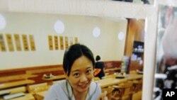 Phóng viên của đài Al-Jazeera Melissa Chan tại văn phòng ở Bắc Kinh, ngày 8/5/2012