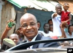 Cellou Dalein Diallo durant la campagne électorale
