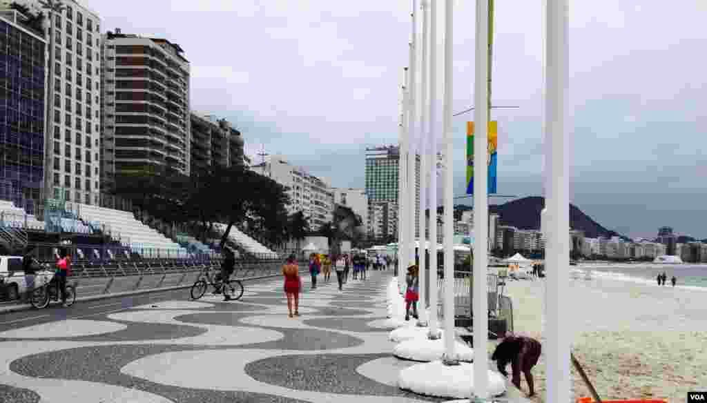 Las calles de Rio recibe la visita de miles de turistas.