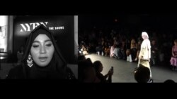 Anniesa Hasibuan di New York Fashion Week