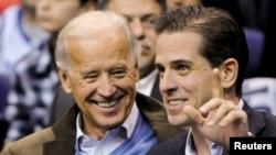 조 바이든 전 미국 부통령과 아들 헌터 바이든.