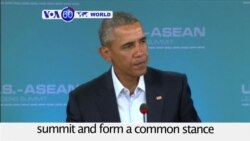 VOA60 World - President Barack Obama gathers ten leaders from Southeast Asia for ASEAN summit
