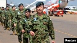Pasukan Jepang tiba di bandara Juba, Sudan Selatan Senin (21/11) untuk bergabung dengan pasukan penjaga perdamaian PBB (UNMISS).