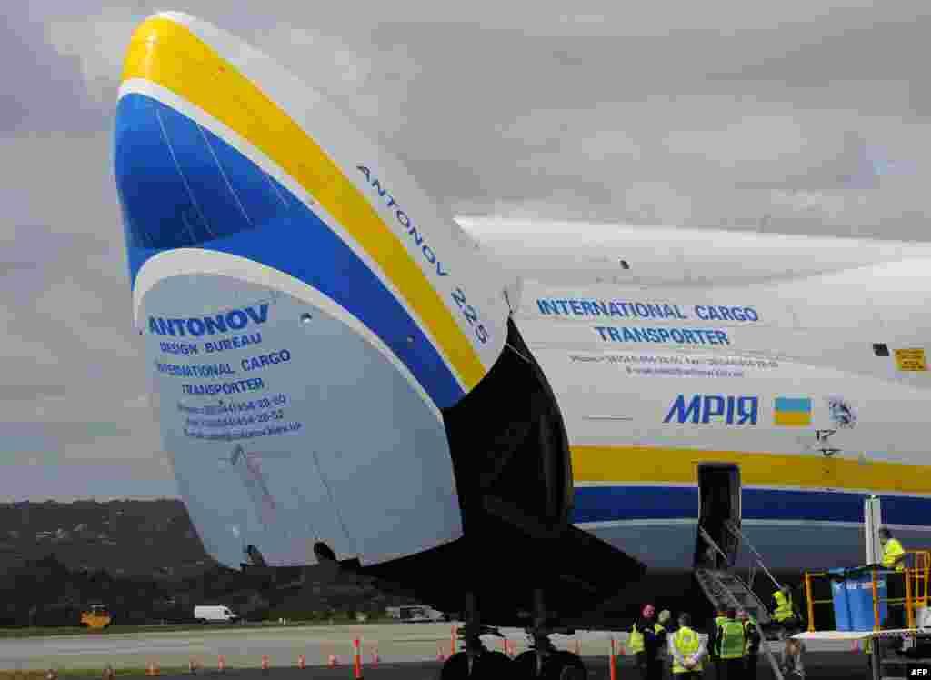 ក្បាលយន្តហោះ Antonov An-225 Mriya ដែលត្រូវបានធ្វើឡើងនៅប្រទេសអ៊ុយក្រែន និងដែលជាយន្តហោះធំជាងគេបំផុតនៅលើពិភពលោក ត្រូវបានបើកឡើង បន្ទាប់ពីយន្តហោះនេះបានចុះចតនៅឯព្រលានយន្តហោះក្រុង Perth កាលពីថ្ងៃទី១៥ ខែឧសភា ឆ្នាំ២០១៦។ យន្តហោះដែលមានម៉ាស៊ីនចំនួនប្រាំមួយនេះ ដែលពីមុនមកត្រូវបានប្រើដើម្បីដឹកជញ្ជូនយានអវកាសសូវៀត Buran ឥឡូវនេះត្រូវបានប្រើដើម្បីដឹកជញ្ជូនទំនិញ។