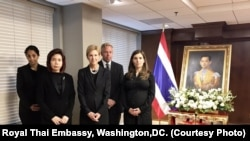 Kristie Kenney,Counselor of the State Department along with officials of the State Department at the Royal Thai Embassy.
