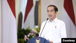 Presiden Jokowi dalam telekonferensi pers di Istana Bogor, Jumat (9/10) persilahkan masyarakat yang tidak puas dengan UU Cipta Kerja untuk Ajukan Uji Materi ke MK (Setpres RI)
