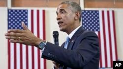 """""""Ustedes no tienen que actuar de determinada forma para ser auténticos. Ustedes tienen que ser quienes son"""", dijo Obama."""