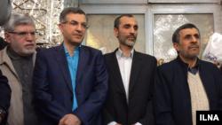 از راست، محمود احمدی نژاد، حمید بقایی، اسفندیار رحیم مشایی و علی اکبر جوانفکر