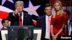 Дональд Трамп, Пол Манафорт і дочка президента Іванка на З'їзді Республіканської партії