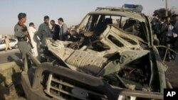 افغانستان: خود کش حملہ، آٹھ افراد بشمول نیٹو کے دو فوجی ہلاک