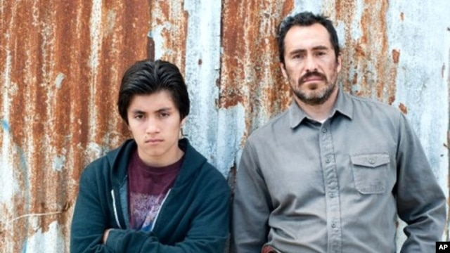 "Demian Bichir, right,  and Jose Julian in ""A Better Life"""