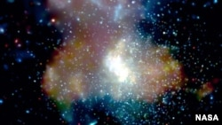 FILE - The center of the Milky Way, as seen in this image from NASA's Chandra X-ray Observatory.